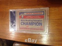 Hulk Hogan Autographed SIGNED ROOKIE CARD 1985 Topps #16 PSA/DNA MINT card