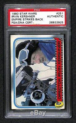 Irvin Kershner 1980 Topps Empire Strikes Back Signed Autographed Card Psa/dna
