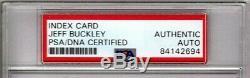 JEFF BUCKLEY Great Inscription Signed Autographed 3x5 Index Card PSA/DNA SLABBED
