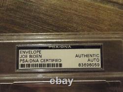 JOE BIDEN SIGNED ENVELOPE PSA/DNA CERTIFIED RARE SLABBED 46th PRESIDENT
