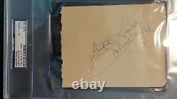JOHN WAYNE vintage Autograph Signed Cut with PSA/DNA Letter of Authenticity