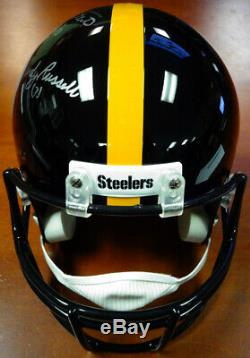 Jack Lambert, Ham & Russell Autographed Full Size Helmet Steelers Psa/dna 89876