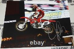Jeremy McGrath Signed 16x20 Photo PSA/DNA COA Motocross Supercross #2 Autograph