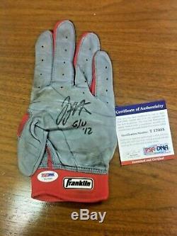 Joey Votto 2012 Game Used Autographed Batting Gloves Cincinnati Reds Psa/dna Coa