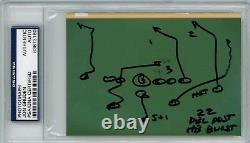 Jon Gruden PSA/DNA Signed Auto Autograph HAND DRAWN Play Photo 1/1 Index Card