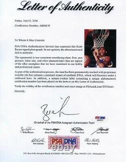 KOBE BRYANT 8x10 FRAMED Signed Autograph PSA/DNA LOA MAMBA L. A. LAKERS Signature