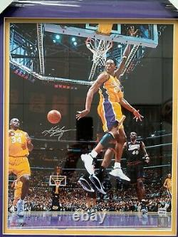 KOBE BRYANT LA Lakers Signed Autographed AUTHENTIC 16x20 and 6 ring set PSA/DNA