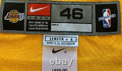KOBE BRYANT Signed Autographed RARE Home Gold Nike Pro Cut #8 Jersey PSA/DNA