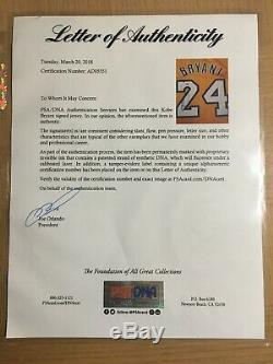 KOBE BRYANT Signed Jersey Los Angeles Lakers RARE #24 Autographed PSA DNA COA