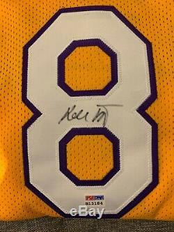 Kobe Bryant Autographed #8 Jersey (PSA/DNA)