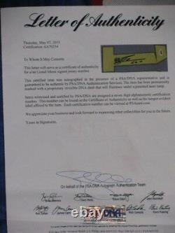 LEO MESSI Hand Signed BARCELONA Soccer Jersey + PSA DNA COA BUY GENUINE