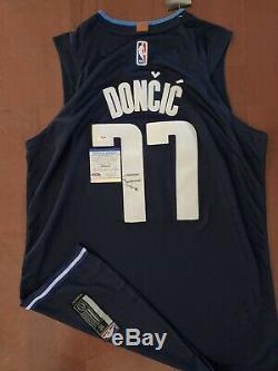 Luka Doncic Signed Autographed Statement Jersey PSA/DNA RARE MVP MAVS