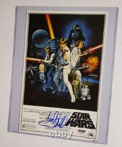 Luke Skywalker Mark Hamill signed photo PSA DNA (Star Wars A New Hope)