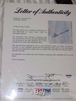 MUHAMMAD ALI Hand Signed Boxing Trunks + PSA DNA COA BUY 100% GENUINE ALI