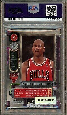 Michael Jordan Signed 1997 Metal Universe #23 HOF PSA 8.5 PSA/DNA 9 AUTO UDA