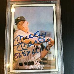 Mickey Mantle 1956, 1957, 1962 MVP Signed 1953 Bowman RP Baseball Card PSA DNA