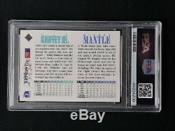 Mickey Mantle Ken Griffey Jr. Dual Signed 1994 Upper Deck Card Psa/dna Auto 9