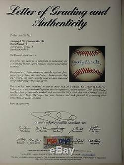 Mickey Mantle Psa/dna Graded 8 Signed Oal Baseball Autographed #o01690