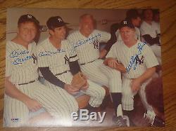 Mickey Mantle Whitey Ford Joe Dimaggio Billy Martin Signed 11x14 Photo PSA/DNA