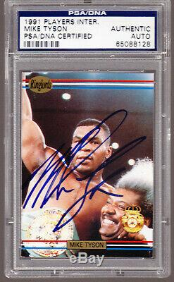 Mike Tyson AUTO Signed 1991 Ringlords # Promo SAMPLE Card PSA/DNA Authentic