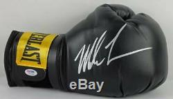 Mike Tyson Authentic Signed Black Boxing Glove Autographed PSA/DNA ITP