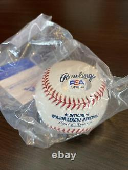 Mookie Betts #50 LA Dodgers Autographed MLB Baseball PSA/DNA NO RESERVE