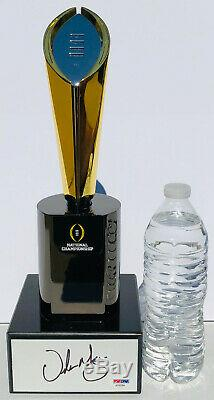 PSA/DNA Ohio State URBAN MEYER Signed Autographed National Championship Trophy