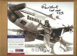 PSA/DNA Roscoe Brown Tuskegee Airmen Autographed 8x10 Picture Red Tails Airman