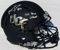 PSA/DNA UCF MCKENZIE MILTON Signed Autographed Football Helmet WE HAVE LIFTOFF