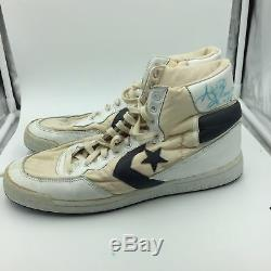 Pair Of 1980's Isiah Thomas Signed Game Used Converse Sneakers Shoes PSA DNA