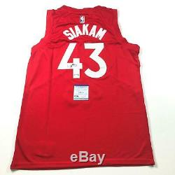 Pascal Siakam Signed Jersey PSA/DNA Toronto Raptors Autographed