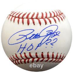 Pete Rose Autographed Signed Mlb Baseball Cincinnati Reds Hof Psa/dna 59082