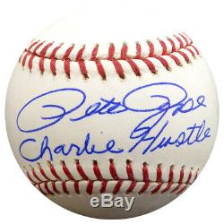 Pete Rose Autographed Signed Mlb Baseball Reds Charlie Hustle Psa/dna 59084