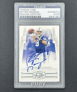 Peyton Manning 2007 Threads PSA/DNA Certified Signed Card Auto Autograph Colts