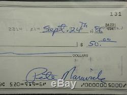 Pistol Pete Maravich Psa/dna Handwritten Signed Check Autographed #81997542
