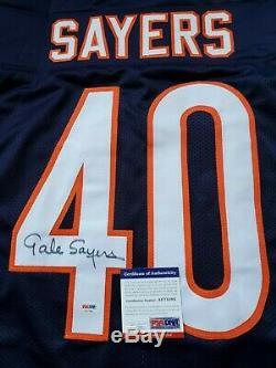 Psa/dna Gale Sayers Autographed Blue Jersey