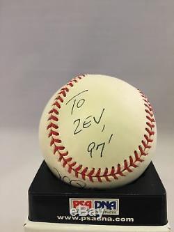 RARE 1997 Mark Mcgwire Signed Autographed AL Baseball Inscribed #25 A's PSA DNA