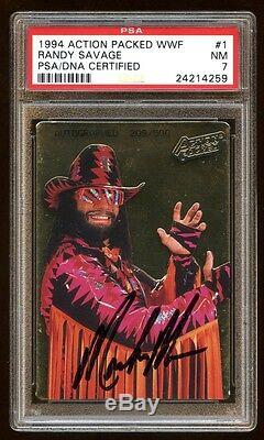 Randy Savage 1994 Action Packed Wwf Auto Psa/dna #d /500 Bold Perfect Autograph
