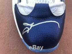 Reebok Question Mid Pearlized Blue Toe 11 Rookie Allen Iverson Signed PSA/DNA
