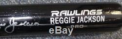 Reggie Jackson Autographed Signed Rawlings Bat Yankees, A's Psa/dna 110760