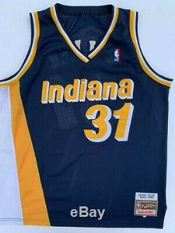 Reggie Miller Signed Indiana Pacers Jersey Mitchell & Ness 1993-14 Psa/dna