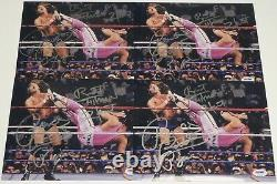 Rowdy Roddy Piper Bret Hart Signed 8x10 Photo PSA/DNA COA WWE Picture Autograph
