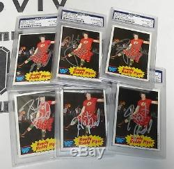 Rowdy Roddy Piper Signed 1985 Topps WWF Card PSA/DNA COA WWE Autograph Wrestling