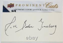 Ruth Bader Ginsburg Signed 2009 Upper Deck Prominent Cuts Psa/dna #'d 2 Of 4