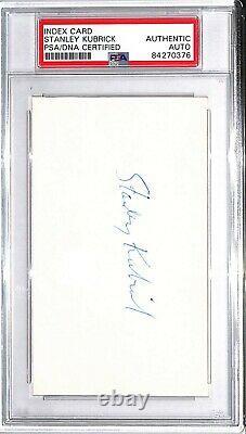 STANLEY KUBRICK Signed Autographed Index Card PSA/DNA SLABBED #84270376