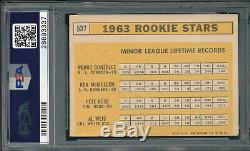Signed Psa/dna Certified Pete Rose Rookie Card Auto 1963 Topps 537 Autograph Coa