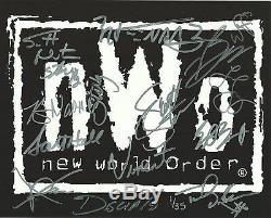 Sting Scott Hall Kevin Nash Steiner Eric Bischoff Signed NWO 8x10 Photo PSA/DNA
