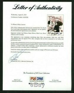 THE BEACH BOYS WILSON LOVE JARDINE Signed (5) Autographed 8 x 10 Photo PSA DNA