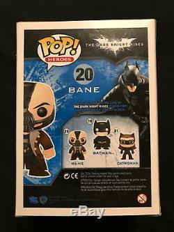 TOM HARDY Autographed BANE Funko POP Retired RARE Exact Proof Batman PSA/DNA