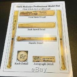 The Finest Mark McGwire 1988 Signed Game Used Baseball Bat PSA DNA COA GU 10